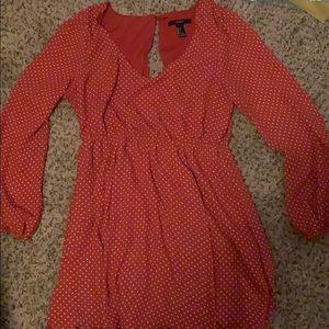 Forever 21, red polka dot dress